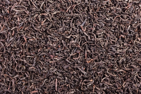 theine: Black tea loose dried tea leaves, marco Stock Photo