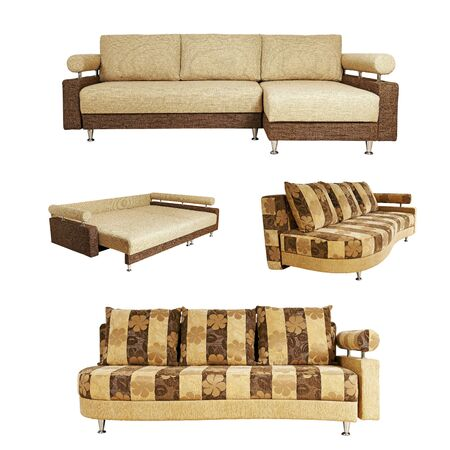 Isolated collage of sofa over white background Stock Photo - 15663638