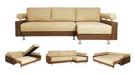 Isolated collage of sofa over white background Stock Photo - 15663635