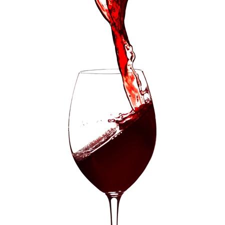 Red wine splash Standard-Bild