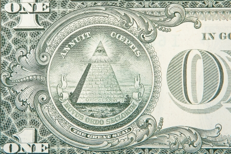 1 and group: a one dollar bill .