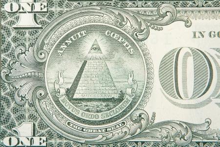 een een dollarbiljet. Stockfoto