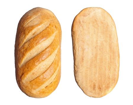 lange brood geïsoleerd op een witte achtergrond Stockfoto