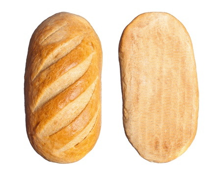 long loaf isolated on a white background photo