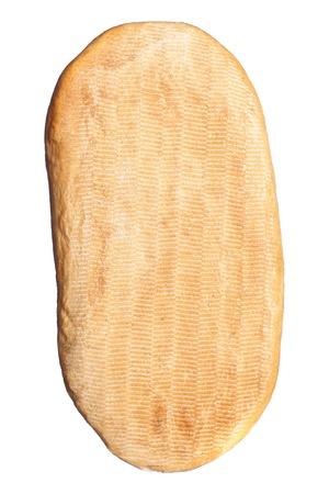 lang brood geïsoleerd op een witte achtergrond Stockfoto
