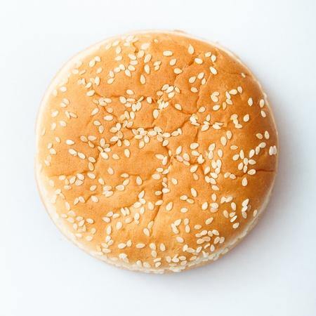 Close-up van de hamburger broodje met sesamzaad