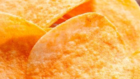 Potato chips close-up photo