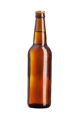 brown beer isolated on white background Standard-Bild