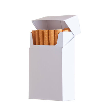 Pack of cigarettes isolated on white background photo