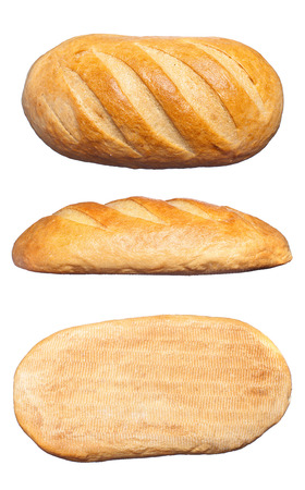 baguet: long loaf isolated on a white background Stock Photo