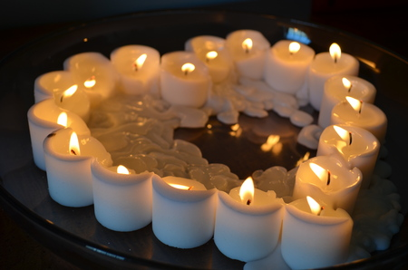 Candles in a heart