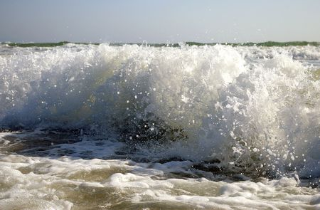 spume: The Spume of  sea wave on song. Stock Photo