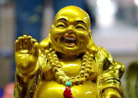 budda: Chinese statuette Merry Budda Stock Photo