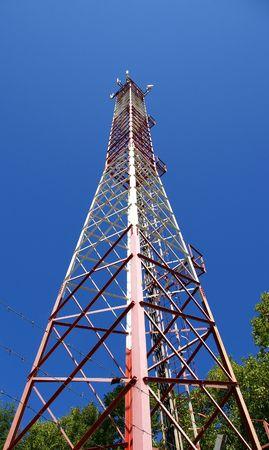 handhold: Handhold antenna cell-ural telephony communicate Stock Photo