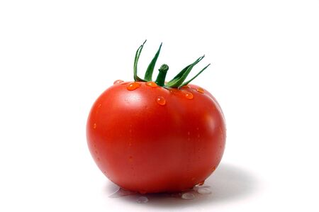 Tomato with drop of water