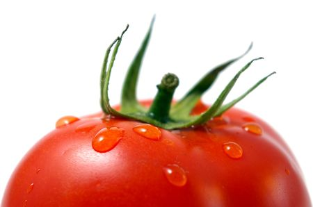 Dripped water on tomato.