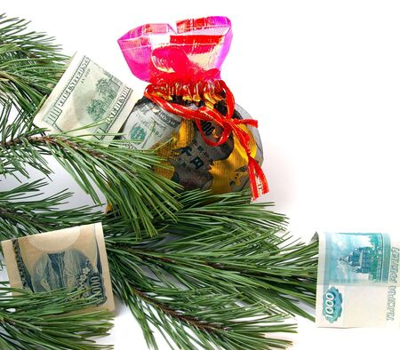 New year's gift with money Stock Photo - 3794903