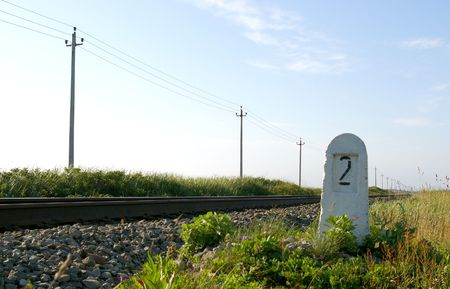 Railway pole and electric poles Stock Photo - 3947684
