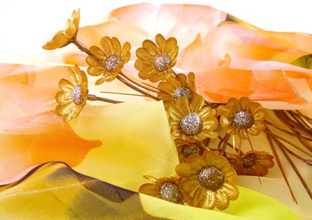 Still life with golden colour. photo