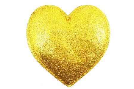 Gilded heart on white background Stock Photo - 4548573