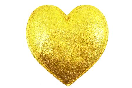 Gilded heart on white background Stock Photo - 4548573