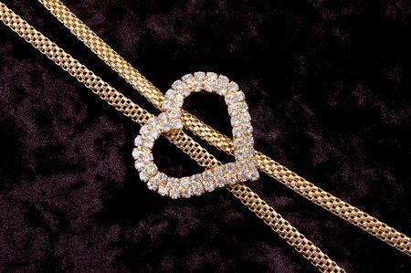 Decoration with heart on velvet Stock Photo - 4548575