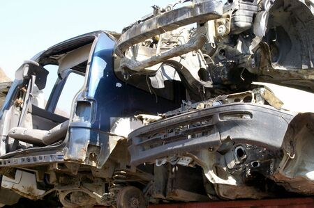 salvaging: Old cars on scramble Stock Photo