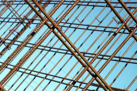 armature: Construction armature on background sky