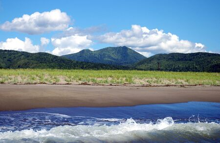 Seaside of the island Sakhalin.