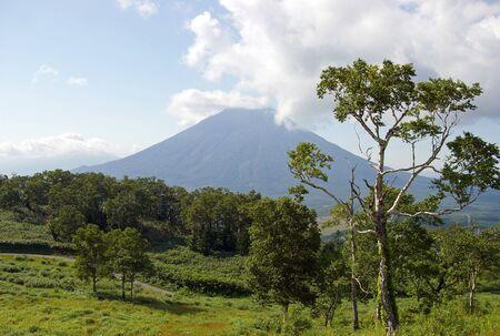 Mountain Izola in region of the resort Rusutsu. Japan, Hokkaido photo