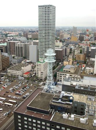 Sapporo ( type with heights of the television tower). Japan,island Hokkaido