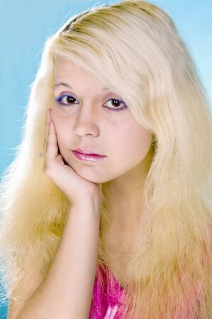 solter�a: triste chica rubia