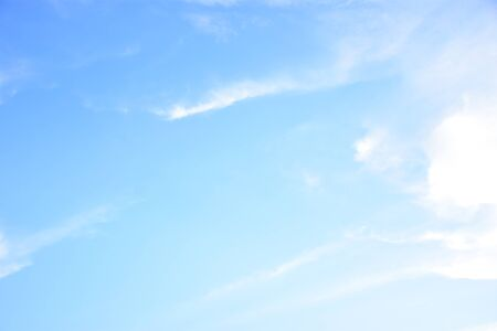 Blue sky and white clouds,The sky in the day is a very clean thing Stock Photo