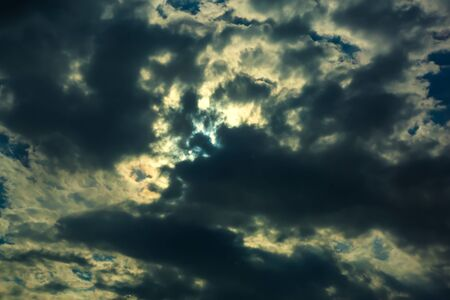 Sky and clouds  Deep blue dramatic cloudscape