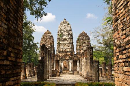 buddhismus: Historic Khmer temple in Sukhothai, Thailand Stock Photo