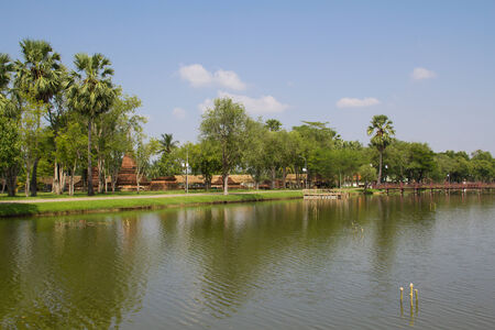 buddhismus: Panorama of Sukhothai, Thailand