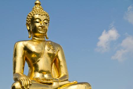 buddhismus: Golden Buddha at Golden Triangle, Thailand Stock Photo