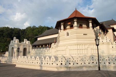 kandy: Temple of Tooth, Kandy, Sri Lanka Stock Photo