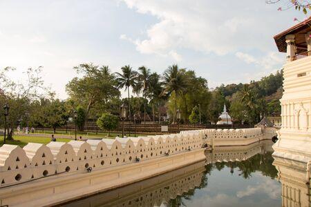 sri lanka temple: Temple of Tooth, Kandy, Sri Lanka Stock Photo