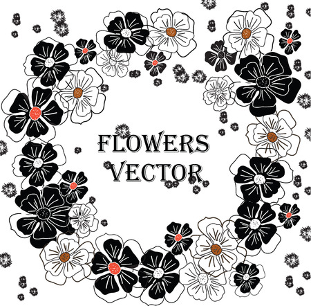 Vector seamless ornament on white background Modern illustration is applied for design