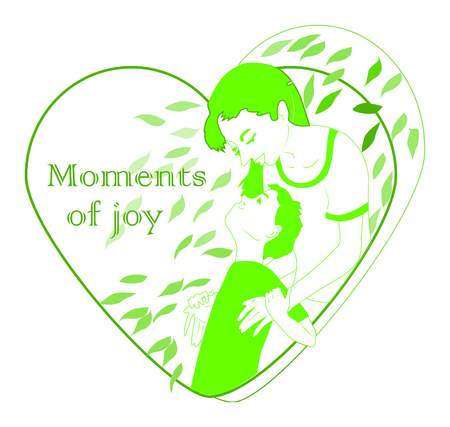 Moments of joy, mothers love for her beloved son. family vector illustration of a mothers true love for a child