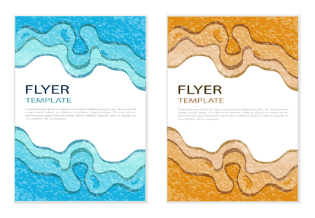 Flyers design template vector. Brochure report business magazine poster. Abstract cover book portfolio. Çizim