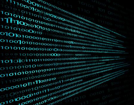 digital set of 1 and 0. encrypted, secret computer information from symbols to encode. vector background, computer technology, matrix on a black background for design  イラスト・ベクター素材