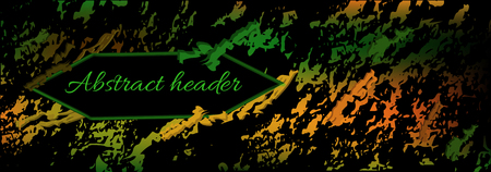 background abstraction, heder. template for website header design, banner, background, cover in green on a black background. modern vector backgrounds, templates in eps 10 format Stock Illustratie