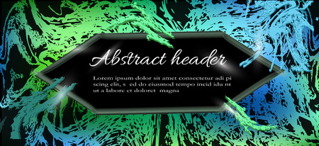 background abstraction, heder. template for website header design, banner, background, cover in green on a black background. modern vector backgrounds, templates in eps 10 format  イラスト・ベクター素材