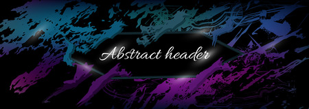 bright abstract vector background, banner of texture lines, shapes. realistic abstract header with purple text for design  イラスト・ベクター素材