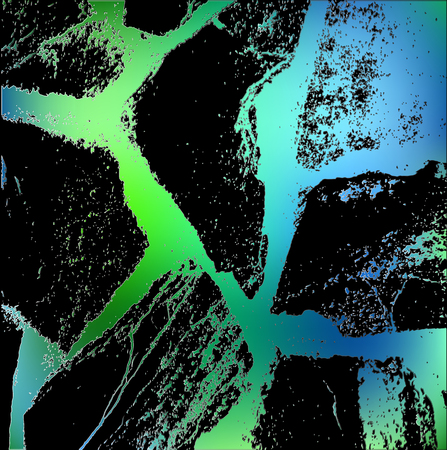 modern abstraction of green blue line in stone style on black background. natural stone, texture or pattern for design, cover, backgrounds, pages, advertising, packaging, flyers