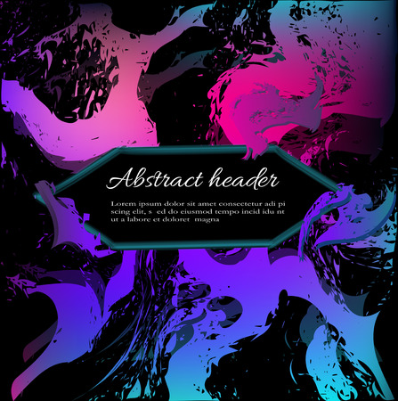 abstract background in violet blue colors on a black background. abstract figures of zigzag waves and lines for design.  イラスト・ベクター素材