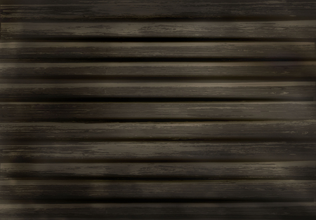 wood background of old worn boards in 3d style. vector realistic illustration of an old fence, a tree. voluminous retro Board, a tree with a broad band Illustration