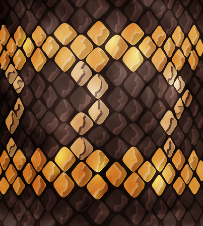 snakeskin, great design for any purpose. snake background texture, surface design. Animal print, snake skin texture with ornament and figure. - Vector graphics, Stock Illustratie